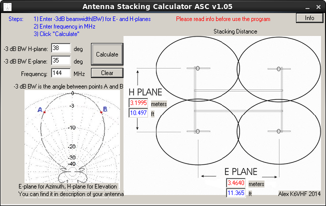 Antenna Stacking Calculator
