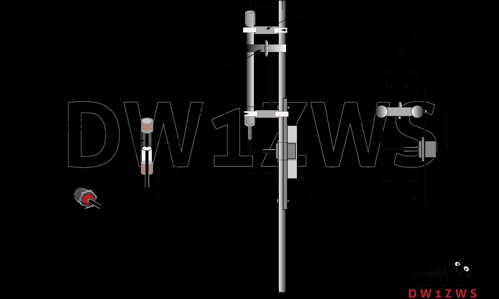 Gamma Match 5 Elements UHF