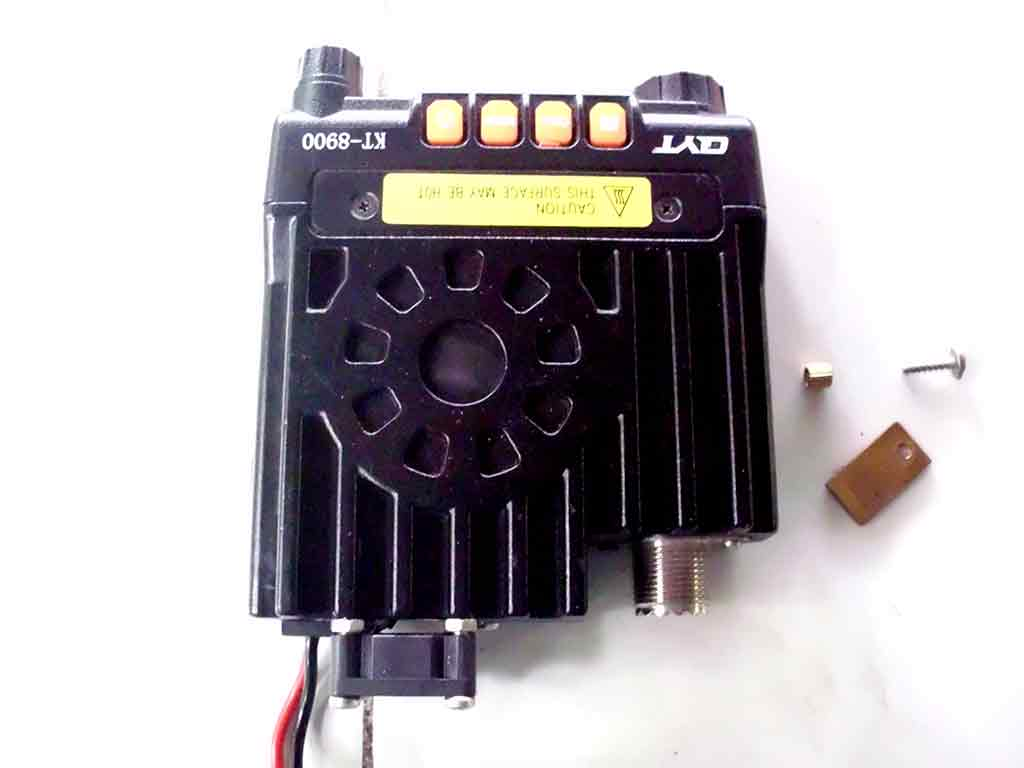 The radio with cooling fan attached