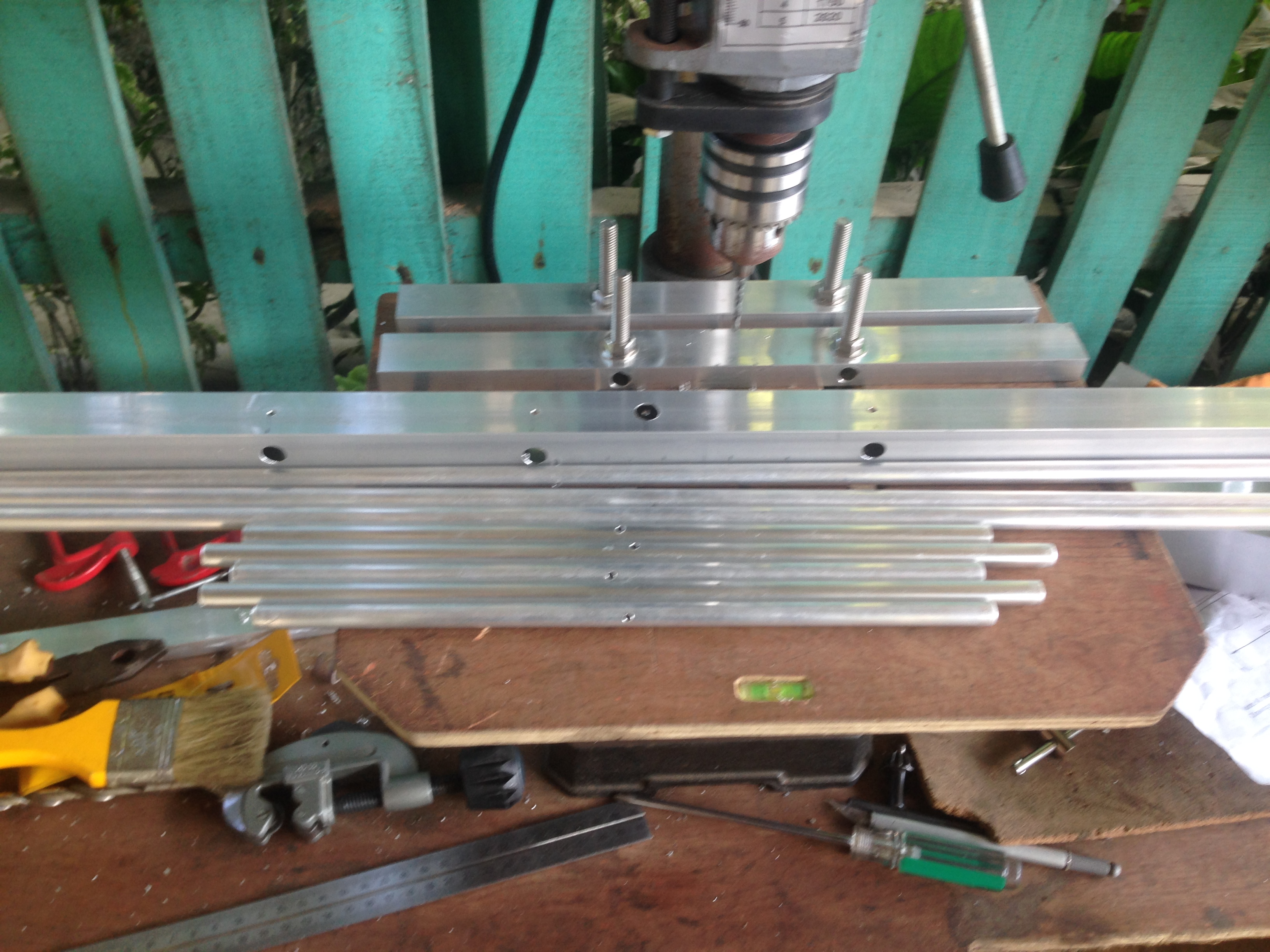 Preparing the materials 3x5 cross yagi