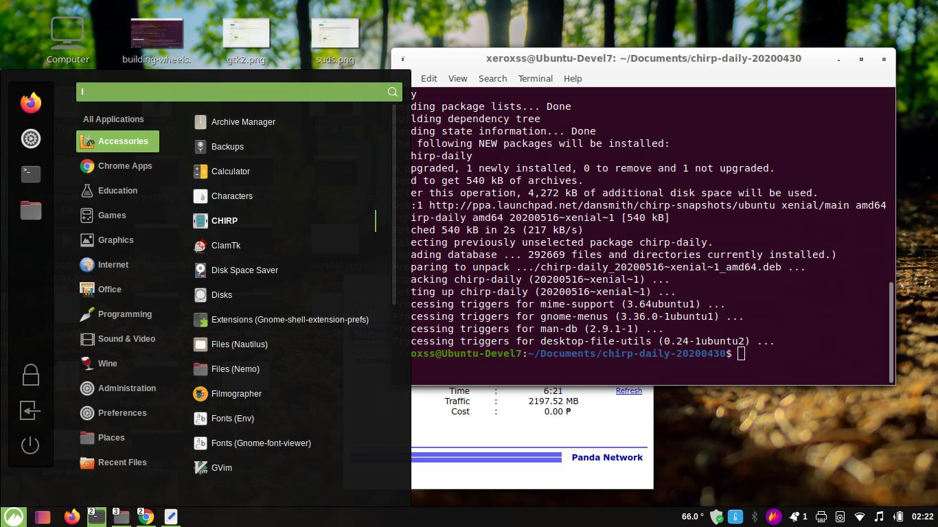 installing Chirp Ubuntu20.04