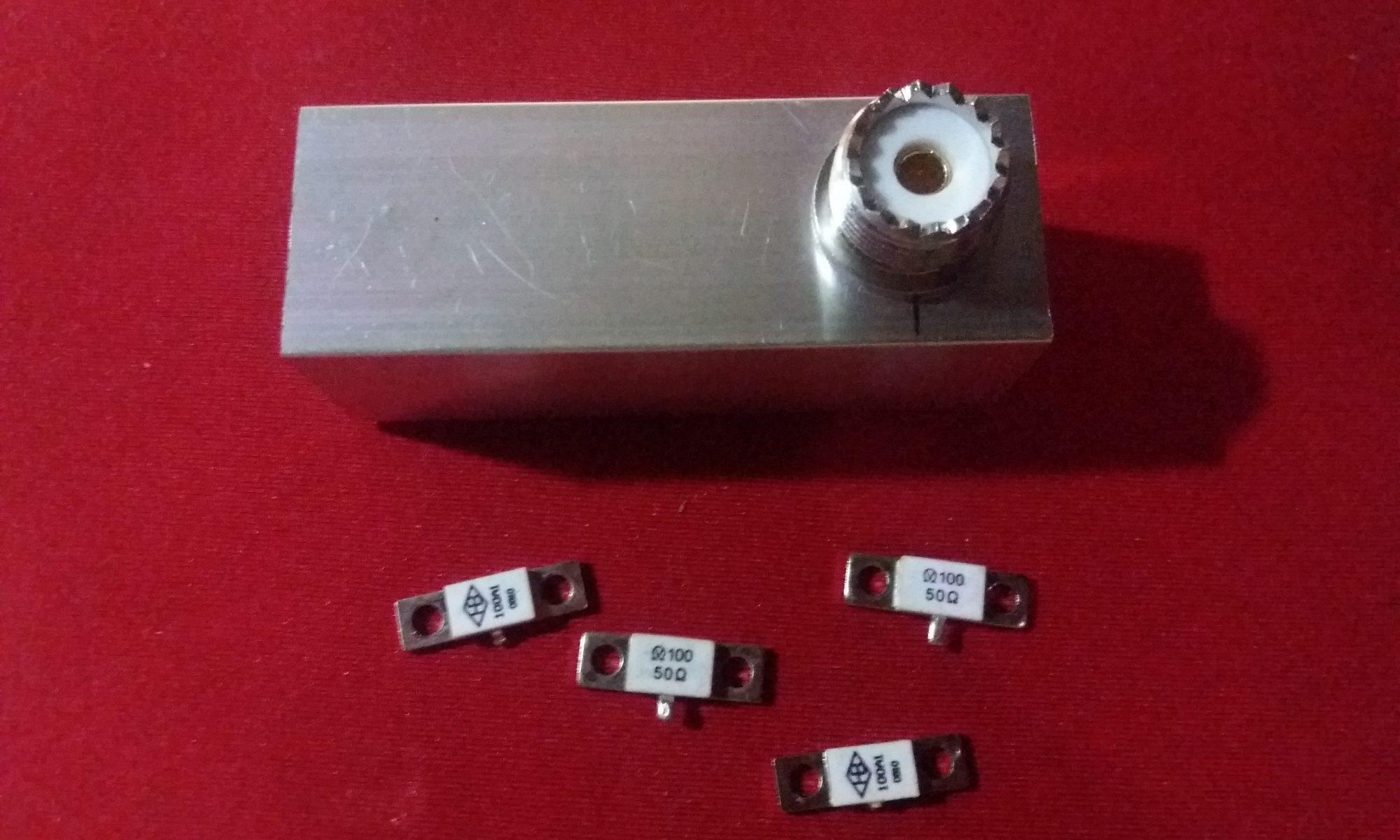 Building an 100watts RF dummy load